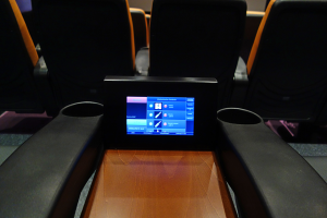 Tablet-Installation im Kino Hausham